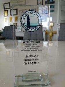 Pomorska Nagroda Jakości 2018 Baukrane